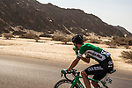 Nick Schultz (AUS) Caja Rural-Seguros RGA takes a drink during Stage 3 of the 2018 Tour of Oman running 179.5km from German University of Technology to Wadi Dayqah Dam. 15th February 2018.<br /> Picture: ASO/Muscat Municipality/Kare Dehlie Thorstad | Cyclefile<br /> <br /> <br /> All photos usage must carry mandatory copyright credit (&copy; Cyclefile | ASO/Muscat Municipality/Kare Dehlie Thorstad)