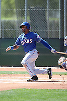 Andy Ibanez - Texas Rangers 2016 spring training (Bill Mitchell)