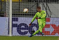 Torwart Jonas Omlin (FC Basel) - 12.03.2020: Eintracht Frankfurt vs. FC Basel, UEFA Europa League, Achtelfinale, Commerzbank Arena<br /> DISCLAIMER: DFL regulations prohibit any use of photographs as image sequences and/or quasi-video.