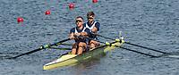 Rio de Janeiro. BRAZIL.   GBR M2X Bow. Jonny WALTON and John COLLINS in their heat  at the 2016 Olympic Rowing Regatta. Lagoa Stadium,<br /> Copacabana,  &ldquo;Olympic Summer Games&rdquo;<br /> Rodrigo de Freitas Lagoon, Lagoa. Local Time 15:43:30   Friday  05/08/2016 <br /> <br /> [Mandatory Credit; Peter SPURRIER/Intersport Images][Mandatory Credit; Peter SPURRIER/Intersport Images]