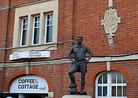 The statue of Sir John Haynes seen prior to the Carabao Cup match between Fulham and Bristol Rovers at Craven Cottage, London, England on 22 August 2017. Photo by Carlton Myrie.