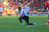 Moses Odubajo of Sheffield Wednesday reaction to his shot going wide during Charlton Athletic vs Sheffield Wednesday, Sky Bet EFL Championship Football at The Valley on 30th November 2019