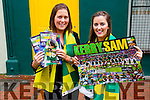 Martina O'Keeffe, Lixnaw and Sarah Nelan, Ballyheigue pictured with the Kerry's Eye All Ireland posters