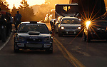 18 July 2007:  Sunrise at the Starting Line during Wednesday morning practice session in preparation for The Race to the Clouds, the 2007 Pikes Peak International Hill Climb.  Race Day is Saturday, July 21, 2007, Colorado Springs, Colorado.