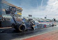 Feb 2, 2017; Chandler, AZ, USA; NHRA top fuel driver Antron Brown during Nitro Spring Training preseason testing at Wild Horse Pass Motorsports Park. Mandatory Credit: Mark J. Rebilas-USA TODAY Sports
