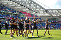 USA players acknowledge the crowd after the match. Rugby World Cup Pool B match between Samoa and the USA on September 20, 2015 at the Brighton Community Stadium in Brighton, England. Photo by: Patrick Khachfe / Onside Images