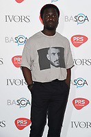 Kwabs arriving for the Ivor Novello Awards 2018 at the Grosvenor House Hotel, London, UK. <br /> 31 May  2018<br /> Picture: Steve Vas/Featureflash/SilverHub 0208 004 5359 sales@silverhubmedia.com