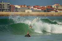SUPERTUBOS, Peniche/Portugal (Monday, October 15, 2012) Alejo Muniz (BRA). - The Rip Curl Pro Portugal was put on hold for most of the morning today giving some of the Top 34 a chance to free surf the waves on offer at Supertubes..Photo: joliphotos.com