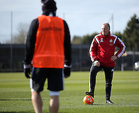 Pictured: Alan Curtsi Thursday 25 February<br /> Re: Swansea City FC training at Fairwood, near Swansea, Wales, UK, ahead of their game against Tottenham Hotspur.