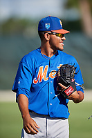 GCL Mets pitcher Simeon Woods-Richardson (44) before a game against the GCL Cardinals on August 6, 2018 at Roger Dean Chevrolet Stadium in Jupiter, Florida.  GCL Cardinals defeated GCL Mets 6-3.  (Mike Janes/Four Seam Images)