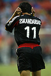 17 July 2004: Alecko Eskandarian reacts after missing a shot on goal in the first half. Los Angeles Galaxy tied DC United 1-1 at RFK Stadium in Washington, DC during a regular season Major League Soccer game..