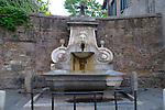 Fontana del Mascherone on the Via Giulia in the Parione district of Rome.