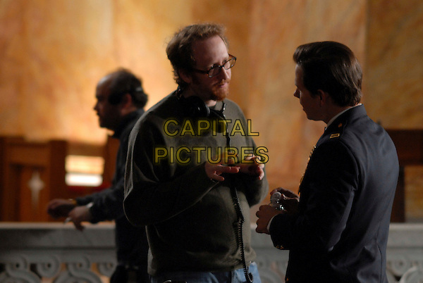 JAMES GRAY (DIRECTOR) & MARK WAHLEBERG.on the set of We Own the Night .**Editorial Use Only**.CAP/FB.Supplied by Capital Pictures
