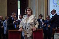 Milano 24-09-2013: Diana Bracco Presidente e Commissario Generale di Sezione per il Padiglione Italia.                                  Milan 24-09-2013: portrait of Diana Bracco