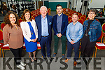 The speakers at the Momentum 2020 KerrySciTech evening in the Kerry GAA Centre of Excellence, Currans on Friday. L to r: Caroline Clark (CEO IamHere ), Aoife Ní Mhuirí (Physio Therapist and CEO of Salaso Health Solutions), Frank Hayes (Kerry Group), Aidan O'Mahoney (AOM), Jason McGann (Aquired Performance) and Ann O'Dee (CEO of Silicone Republic)
