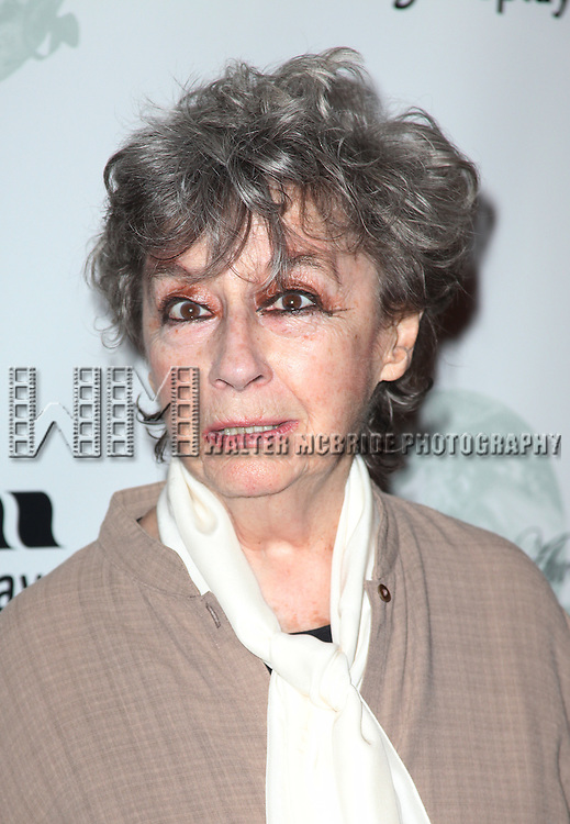 Zoe Caldwell.attending the 2001 Theatre World Awards at the August Wilson Theatre in New York City.