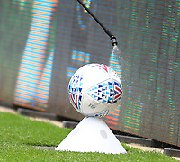 5th July 2020; Liberty Stadium, Swansea, Glamorgan, Wales; English Football League Championship, Swansea City versus Sheffield Wednesday; A match ball is sprayed with sanitizer during half time