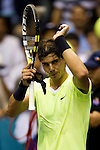 BANGKOK, THAILAND - SEPTEMBER 30:  Rafael Nadal of Spain acknowledges to the crowd after winning his match against Ruben Bemelmans of Belgium during the Day 6 of the PTT Thailand Open at Impact Arena on September 30, 2010 in Bangkok, Thailand.  Photo by Victor Fraile / The Power of Sport Images
