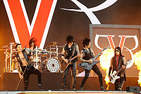 DERBY, ENGLAND - JUNE 10: Andy Biersack, Christian &quot;CC&quot; Coma, Jinxx, Jake Pitts and Ashley Purdy of 'Black Veil Brides ' performing at Download Festival, Donington Park on June 10, 2018 in Derby.<br /> CAP/MAR<br /> &copy;MAR/Capital Pictures