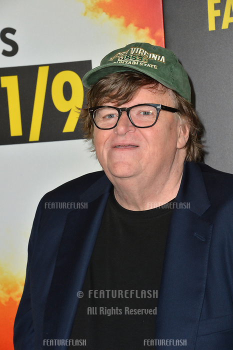 LOS ANGELES, CA. September 19, 2018: Michael Moore at the Los Angeles premiere for Michael Moore's &quot;Fahrenheit 11/9&quot; at the Samuel Goldwyn Theatre.<br /> Picture: Paul Smith/Featureflash