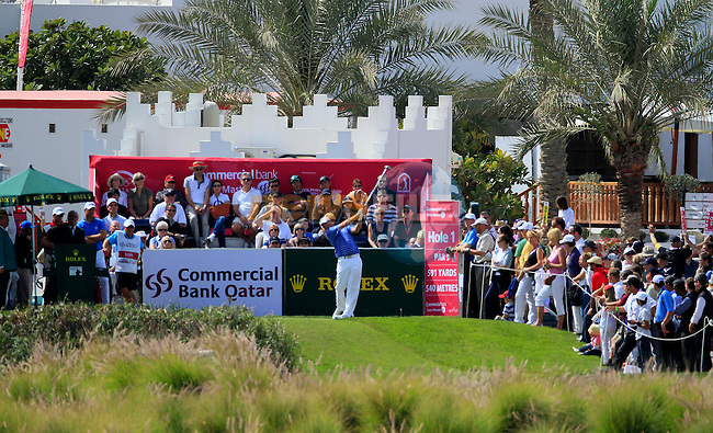 Thomas Bjorn (DEN) in action during the third round of .the Commercialbank Qatar Masters presented by Dolphin Energy played at Doha Golf Club, Doha, Qatar on 5th February 2011..Picture: Phil Inglis / www.golffile.ie.