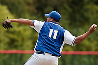 15 July 2010: Gabriel Connor pitches against All Star Elite during day 3 of the Open de Rouen, an international tournament with Team France, Team Saint Martin, Team All Star Elite, at Stade Pierre Rolland, in Rouen, France.
