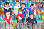 New starters in Meenkilly NS, pictured here on their first day last Tuesday morning. F l-r: Nicole Lane, Matthew O'Connor, Ellie Bishop. B l-r: Aaron Fitzgerald, Tiernan O'Mahony, Patrick Cahill and Luke Palmer.