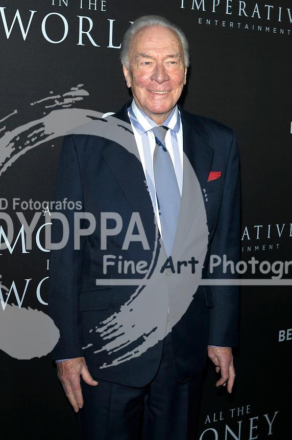 Christopher Plummer bei der Premiere des Kinofilms 'All the Money in the World / Alles Geld der Welt' im Samuel Goldwyn Theater. Beverly Hills, 18.12.2017