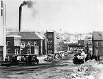 View of Maple Street from the Green in Naugatuck, January 1936.