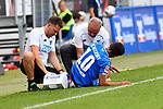 11.08.2018, Wirsol-Rhein-Neckar-Arena, Sinsheim, GER, Testspiel, TSG 1899 Hoffenheim vs SD Eibar, <br /> <br /> DFL REGULATIONS PROHIBIT ANY USE OF PHOTOGRAPHS AS IMAGE SEQUENCES AND/OR QUASI-VIDEO.<br /> <br /> im Bild: Kerem Demirbay (TSG Hoffenheim #10) muss verletzt mit Verletzung vom Feld<br /> <br /> Foto © nordphoto / Fabisch