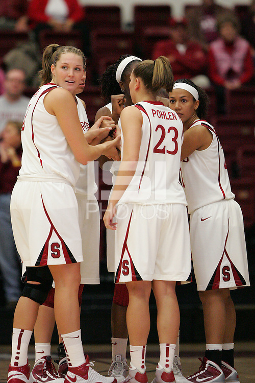 STANFORD, CA - NOVEMBER 1:  Jayne Appel of the Stanford Cardinal during Stanford's 107-49 win over Vanguard on November 8, 2009 at Maples Pavilion in Stanford, California. Also pictured Jeanette Pohlen and Rosalyn Gold-Onwude.
