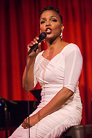Nnenna Freelon performs during the Duke Performances in The Jazz Tradition series at the Durham Fruit & Produce Company in Durham, North Carolina Monday, December 3, 2018  (Justin Cook)