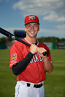 Batavia Muckdogs Kobie Taylor (4) poses for a photo before a NY-Penn League game against the West Virginia Black Bears on June 26, 2019 at Dwyer Stadium in Batavia, New York.  Batavia defeated West Virginia 4-2.  (Mike Janes/Four Seam Images)