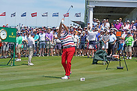 Marc Leishman (AUS) tees off on the first hole during the third round of the 118th U.S. Open Championship at Shinnecock Hills Golf Club in Southampton, NY, USA. 16th June 2018.<br /> Picture: Golffile | Brian Spurlock<br /> <br /> <br /> All photo usage must carry mandatory copyright credit (&copy; Golffile | Brian Spurlock)