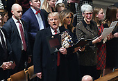 United States President Donald J. Trump and first lady Melania Trump attend the Christmas Eve service at the Washington National Cathedral in Washington, D.C on December 24, 2018.<br /> Credit: Olivier Douliery / Pool via CNP