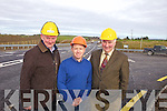 Tim Allman, Aidan McSweeney and Brendan Allman pictured at the newly constructed stretch of 3.5km N69 Tralee-Listowel road between Rae & Tullig.