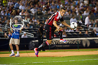 Djamel Mesbah (15) of A. C. Milan. Real Madrid defeated A. C. Milan 5-1 during a 2012 Herbalife World Football Challenge match at Yankee Stadium in New York, NY, on August 8, 2012.
