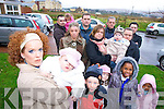 OBJECTION: Residents living in Caheranne Village, Cois Li? and Springfield who have come together to form a committee to campaign against the 52 house development at Ballyvelly beside the Canal.   Copyright Kerry's Eye 2008