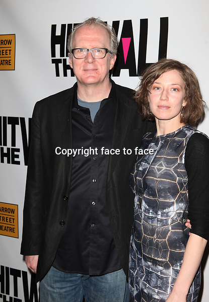 "Tracy Letts & Carrie Coon attending the New York Premiere of the Opening Night Performance of ""Hit The Wall"" at the Barrow Street Theatre in New York City on 3/10/2013...Credit: McBride/face to face"