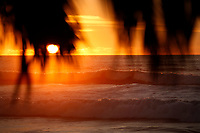 December 21, 2018 - San Diego, California, USA - The sun sets at Windansea Beach in the La Jolla neighborhood of San Diego on the winter solstice. (Photo Credit: © K.C. ALFRED/ZUMA PRESS)