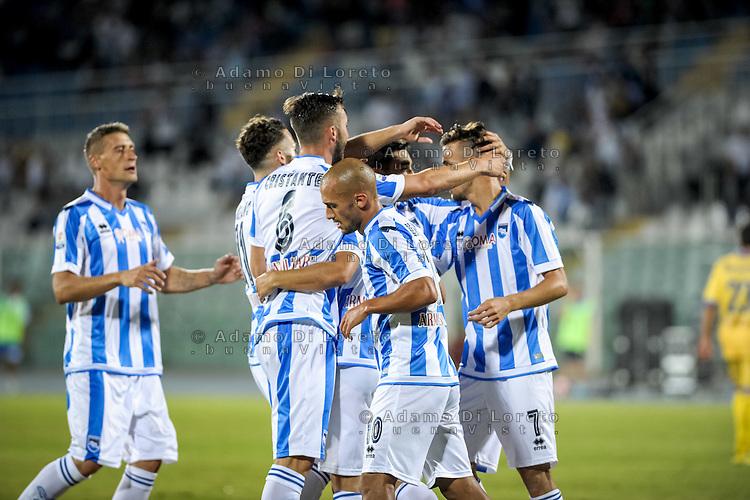 Valerio Verre (PESCARA) after the second goal during the Italian Cup - TIM CUP -match between Pescara vs Frosinone, on August 13, 2016. Photo: Adamo Di Loreto/BuenaVista*photo
