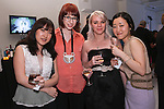 Graduating fashion designers (L-R) Sunjee Kim, Hannah Peyser, Maureen Flint, and Ji Hye Wang, at the Pratt 2011 fashion show and cocktail reception, honoring Hamish Bowles, April 27 2011.