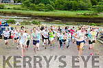 DASHING OFF FOR CHARITY:  A sizeable crowd sets off from Sneem Rowing Club to run the '5K Colour Dash' as part of the Sneem Summer Festival.