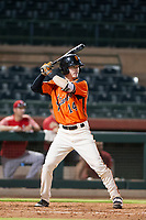 AZL Giants shortstop Tyler Brown (14) bats during a game against the AZL Angels on July 10, 2017 at Scottsdale Stadium in Scottsdale, Arizona. AZL Giants defeated the AZL Angels 3-2. (Zachary Lucy/Four Seam Images)
