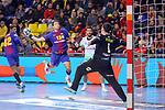 League ASOBAL 2017-2018 - Game: 14.<br /> FC Barcelona Lassa vs Helvetia Anaitasuna: 38-26.<br /> Aitor Ari&ntilde;o vs Javier Labairu.
