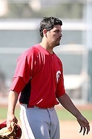 Mark Serrano - Cincinnati Reds 2010 minor league spring training..Photo by:  Bill Mitchell/Four Seam Images.