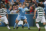 11 December 2011: North Carolina's Billy Schuler (10) and UNCC's Thomas Allen (5). The University of North Carolina Tar Heels defeated the University of North Carolina Charlotte 49ers 1-0 at Regions Park in Hoover, Alabama in the NCAA Division I Men's Soccer College Cup Final.