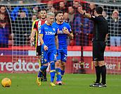 10th February 2018, Bramall Lane, Sheffield, England; EFL Championship football, Sheffield United versus Leeds United; Kalvin Phillips and Ezgjan Alioski of Leeds United argue with the referee