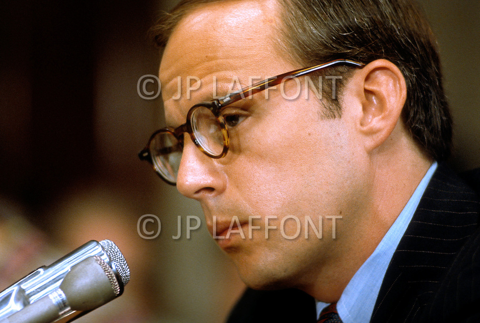 John Dean testifies before the Senate Watergate committee,  June 1973 - A break in at the Democratic National Committee headquarters at the Watergate complex on June 17, 1972 results in one of the biggest political scandals the US government has ever seen.  Effects of the scandal ultimately led to the resignation of  President Richard Nixon, on August 9, 1974, the first and only resignation of any U.S. President.