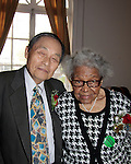 """Katsuya """"Kats"""" Abe & Florence M. Rice - Honorees - Grandparents Around the World Productions, Inc. """"Bridging the Gap between Seniors and Youth"""" founded by Evern Gillard-Randolph (and is CEO) which presented The Grandparents Ball on May 16, 2015 at the Andrew Freedman Mansion, Bronx, New York   (Photos by Sue Coflin/Max Photos)"""